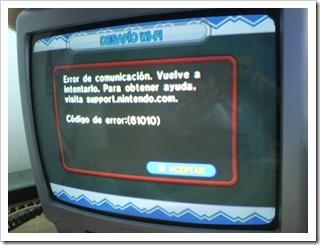 Código de error: (61010) en Dr. Mario online Rx