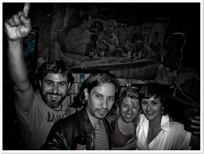 Bar Kentucky con mis compañeros del posgrado de multimedia